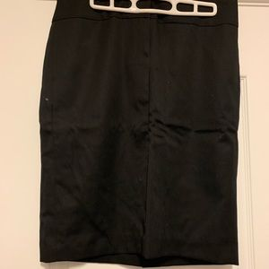 JCrew pencil skirt black -8 ... 100% wool!